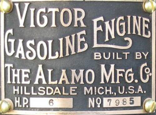 Alamo Vertical Engine.